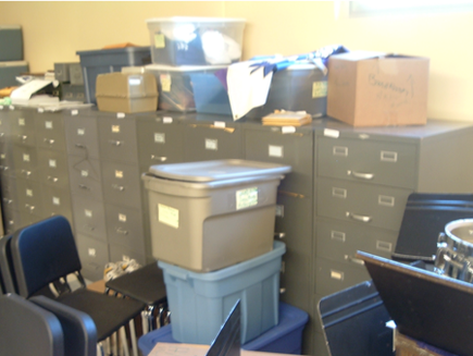 Filing Cabinets Before Transformation